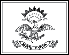 State flag clipart for North dakota state flag coloring page