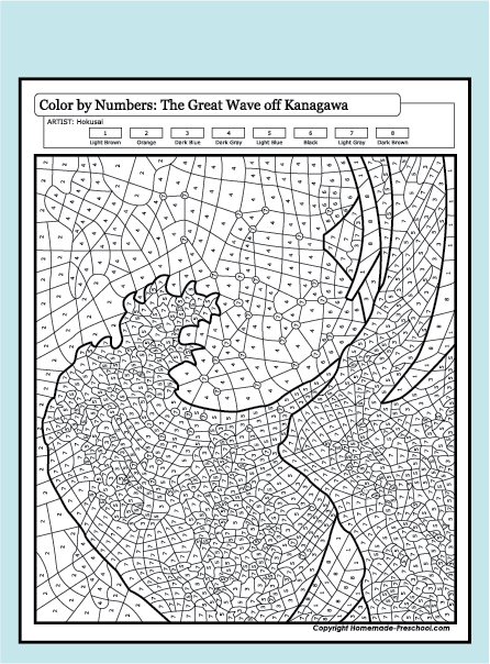 Free coloring pages of the great wave for The great wave coloring page