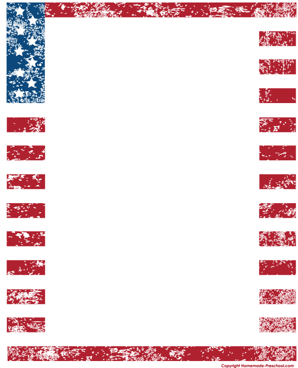 Preschool Borders http://www.homemade-preschool.com/American-Flags-Clipart.html