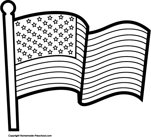 Free American flags clipart Waving American Flag Outline