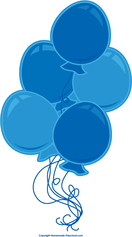 Balloon Green And Blue Cake Clipart 1