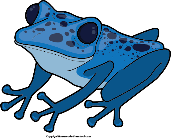 Blue Frog Clipart Blue...
