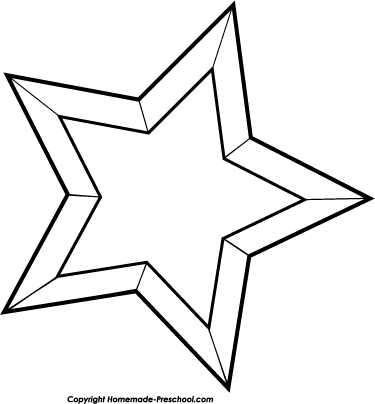 christmas star clip art black and white - photo #8
