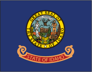 State flag clipart for Idaho state flag coloring page
