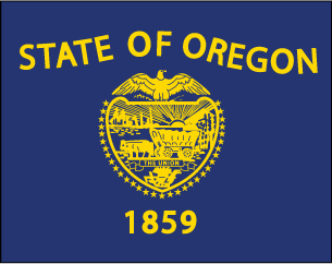 State flag clipart for Oregon flag coloring page