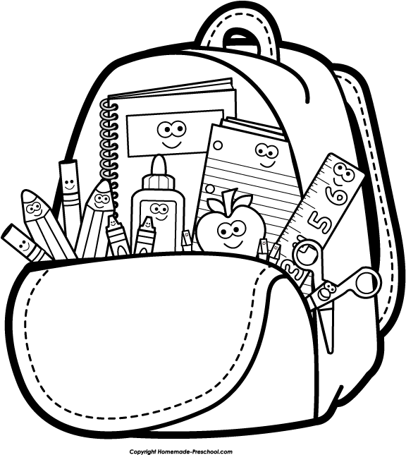 Cute school bags for college students - Go Back Gt Gallery For Gt Backpack Clipart Black And White