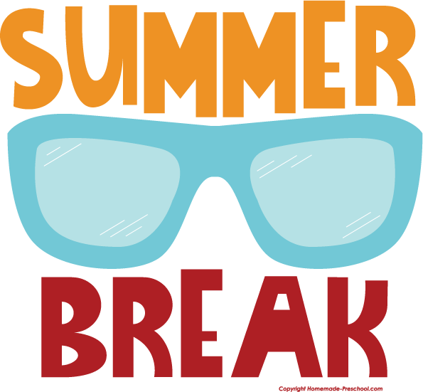 Image result for summer break clip art