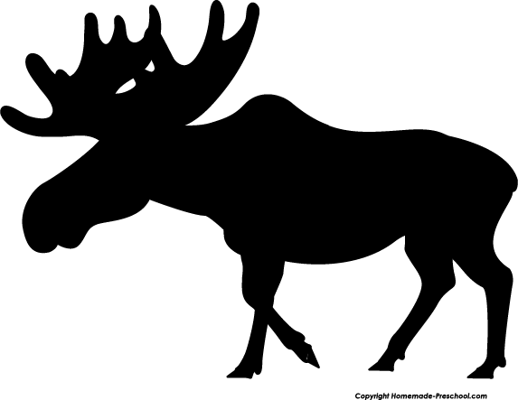 Moose sihouette clip art free animals vector download pictures to pin