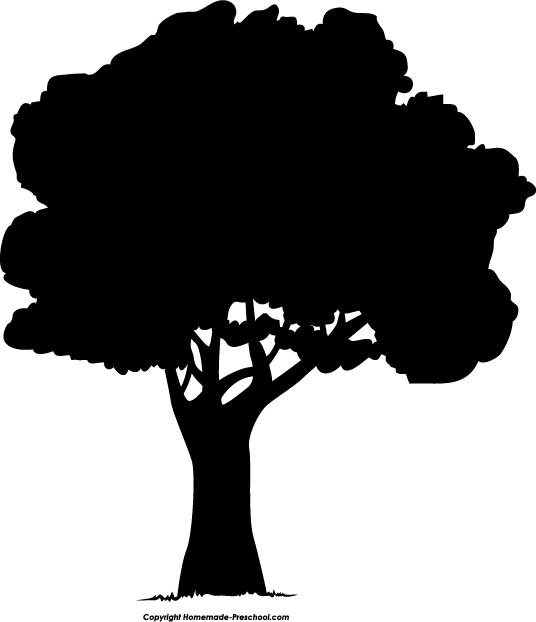 clip art tree silhouette - photo #7