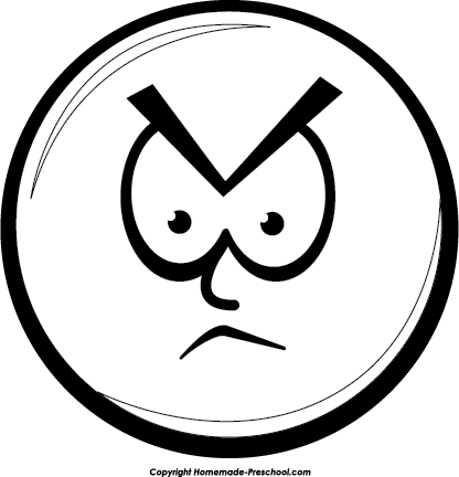 Angry Face Clipart Clipart Smiley Face Angry