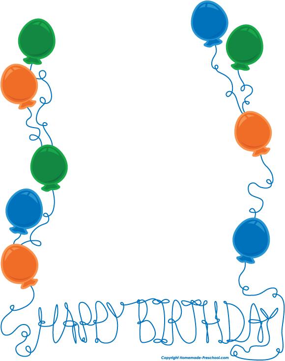 Boy Birthday Border Clipart - clipartsgram.com