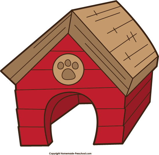 clipart of dog houses - photo #2