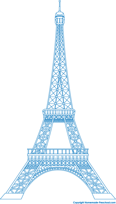 Eiffel Tower Blueprints Cake Ideas and Designs
