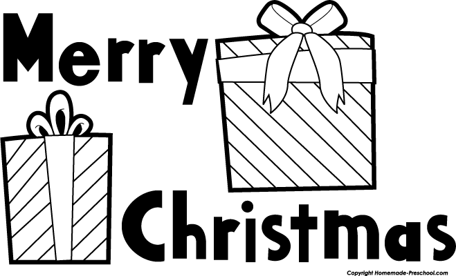 Christmas Present Clip Art Black And White | New Calendar ...