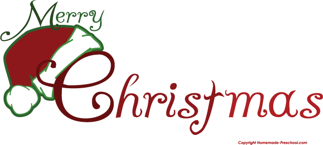 free clipart merry christmas text - photo #33
