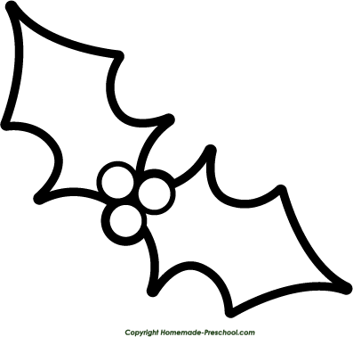 Mistletoe Clipart Black And White Clipart. >
