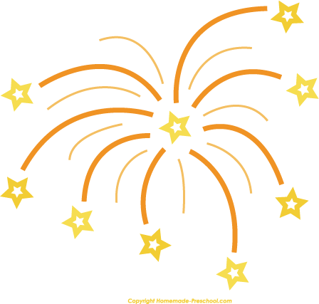New Years Firework Clipart