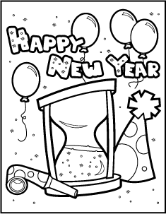 new year coloring pages for preschoolers | happy new year coloring pages preschool