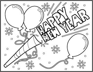 new year coloring pages happy new year coloring pages happy new year