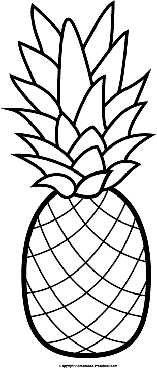 Pics For Gt Black And White Pineapple Png