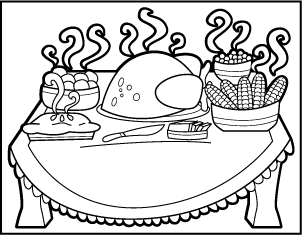 Preschool Coloring Pages Of A Family Eating Dinner Coloring Pages