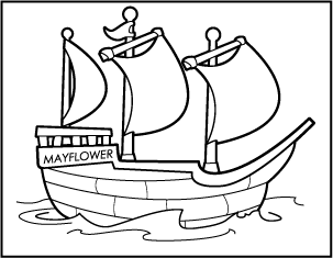 mayflower coloring pages for preschool - photo#1