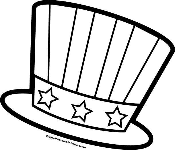 Uncle Sam Hat Coloring Page