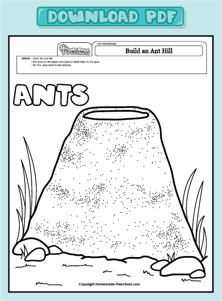 ant hill coloring page - pin anthill colouring pages on pinterest