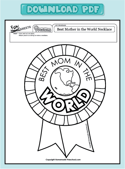 Worksheets For Mothers : Mother s day worksheets