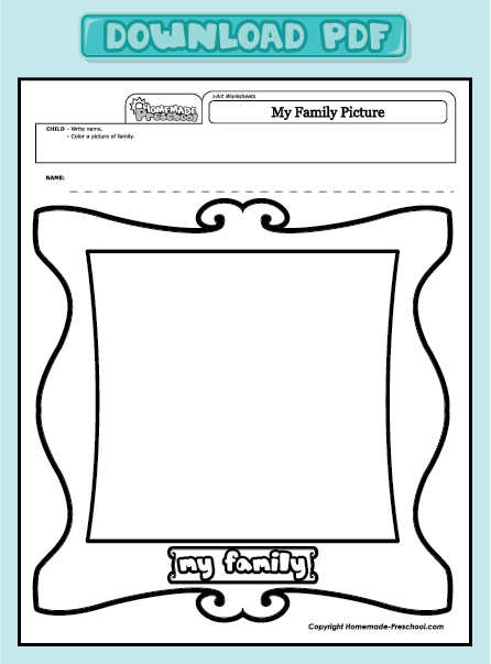 Free coloring pages of family worksheet Coloring book for kindergarten pdf