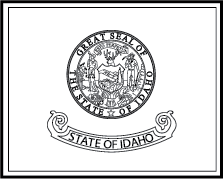 State flag coloring pages for Idaho state flag coloring page