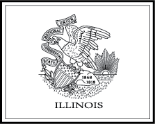 State Flag Coloring Pages Illinois State Flag Coloring Page