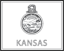 Kansas state flag colouring pages for Kansas flag coloring page