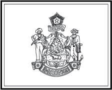 State Flag Coloring Pages Maine State Flag Coloring Page