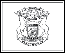 State Flag Coloring Pages Michigan State Flag Coloring Page
