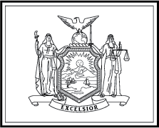 State flag coloring pages for New york flag coloring page