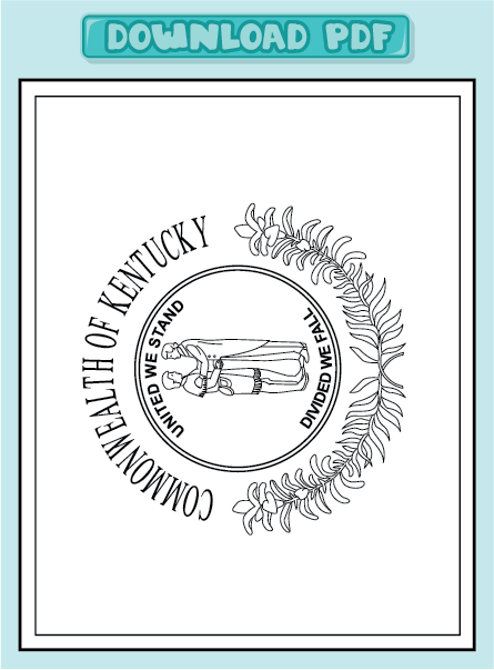 Free Coloring Pages Of Roman Standard Bearer Kentucky State Flag Coloring Page