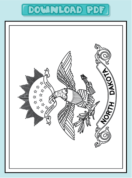 Free coloring pages of dakota state flag for North dakota state flag coloring page