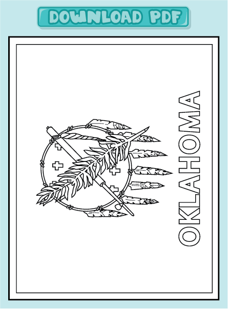 oklahoma state flag coloring pages - photo #12