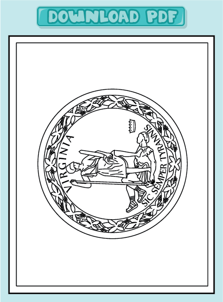 Free Coloring Pages Of Virginia Flag Virginia State Flag Coloring Page