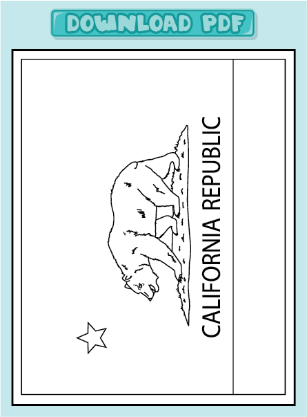 Fun Color By Number Worksheets New Calendar Template Site California Flag Coloring Page