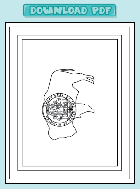 Free coloring pages of state flag of wyoming for Wyoming flag coloring page