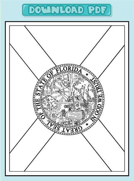 Us Flag Coloring Pages Pdf Freecoloring4u Com Florida Flag Coloring Page