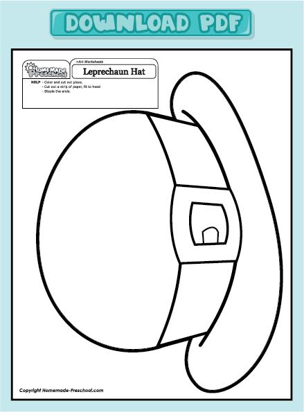 leprechaun hat template printable - leprechaun hat pattern printables