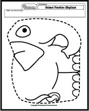 Scissor Practice Worksheets