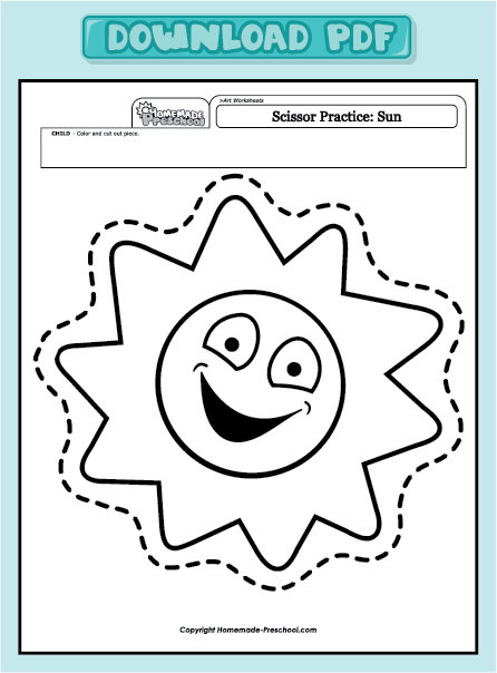 home preschool worksheets preschool art worksheets scissor practice ...