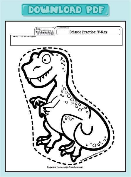 Preschool Cutting Worksheets : Number names worksheets cutting practice worksheet