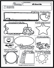 Language Worksheets - All About Self