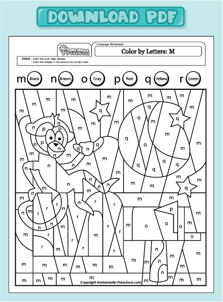 Color by Letter/Color by Sight Word Earth Day Worksheets for ...