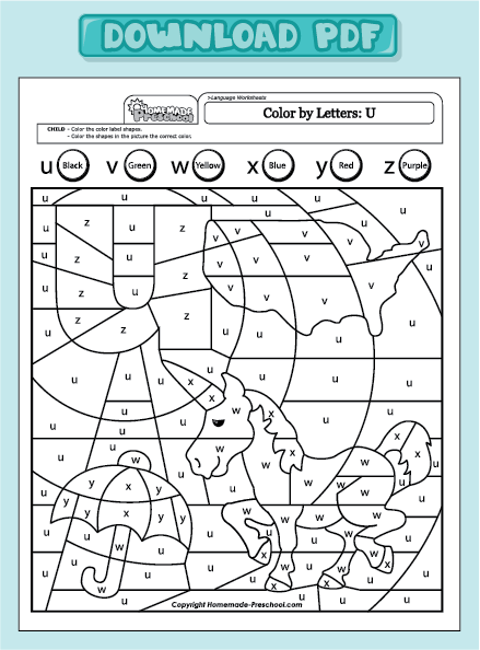 Color By Letter Worksheet Worksheets For School - Beatlesblogcarnival